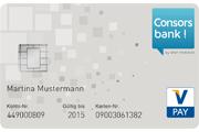 Consorsbank Partnerkonto Vpay Girocard