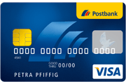 Postbank Partnerkonto Visa Card